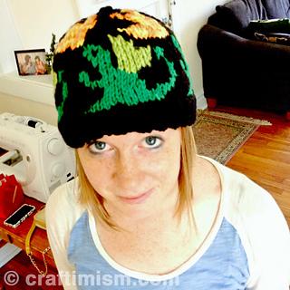 982fca3812a Ravelry  Dragon Patterned Knit Hat pattern by Heidi Arjes