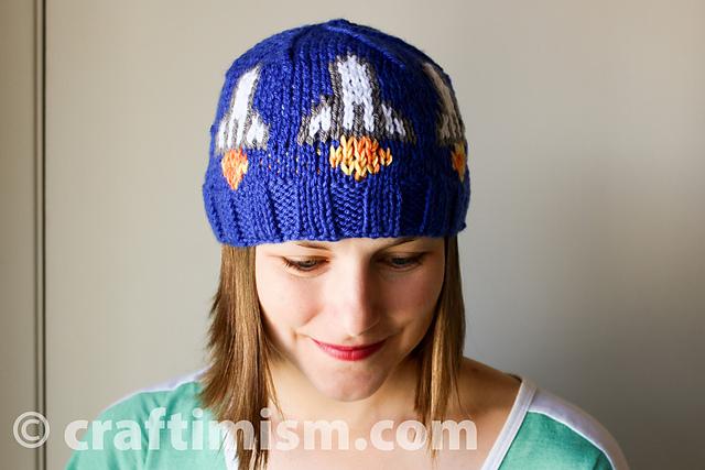 50f13df3fde patterns   Heidi Arjes  Ravelry Store.   Space Shuttle Knit Hat