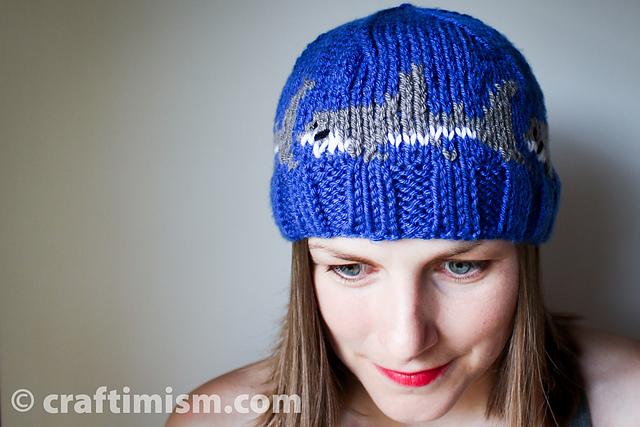 a4e5f92c9d6 Ravelry  Shark Knit Hat pattern by Heidi Arjes