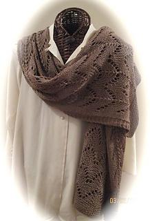 ab1e064d19f1 Ravelry  Mocha Bella Easy Knit Stole pattern by Karen Walker
