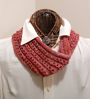 bac925849a08 Ravelry  Easy Knitted Eyelet Cowl pattern by Karen Walker