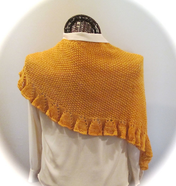 89af4c81ccea patterns   Karen Walker s Ravelry Store.   DAFFODILIA A Knitted Scarf