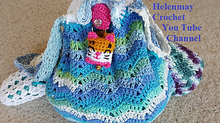 6001c50127ae patterns   Helenmay Crochet You Tube Channel.   Deluxe Beach Bag