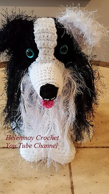 Ravelry Crochet Border Collie Dog Pattern By Helen Brady