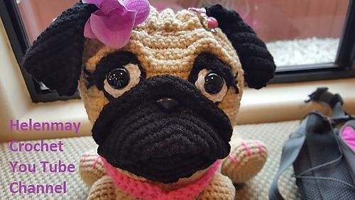 Perro Pug Amigurumi Tutorial : Ravelry: Crochet Pug Amigurumi Dog pattern by Helen Brady