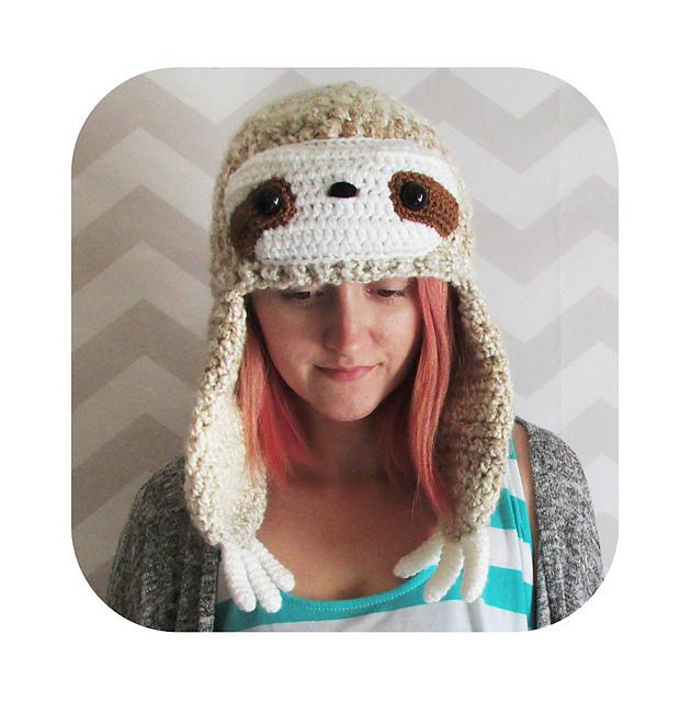 Ravelry Sloth Hat Pattern By Hello Happy