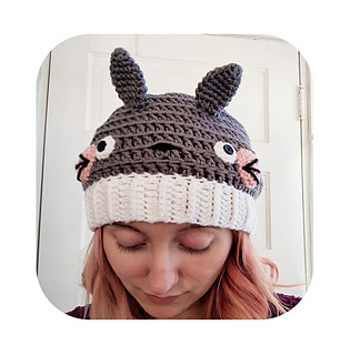 Ravelry  Slouchy totoro hat pattern by Hello Happy 70d857f10ff