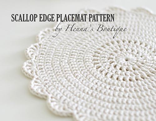 Ravelry Scallop Edge Placemat Pattern By Henna Huczkowski