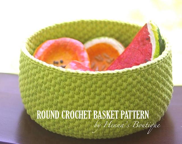 Ravelry Round Crochet Basket Size Small Pattern By Henna Huczkowski