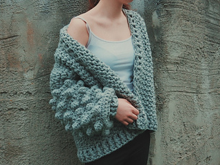 Ravelry Oversized Bobble Sweater Pattern By Carrie M Chambers