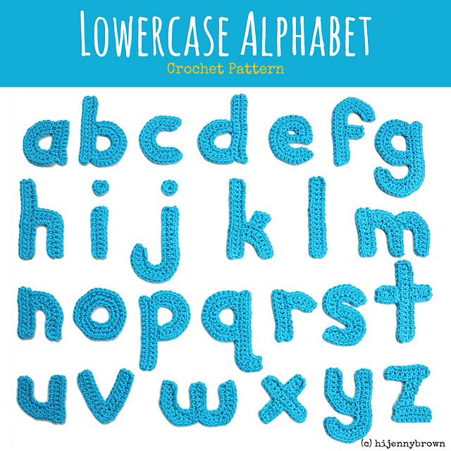 Ravelry Lowercase Alphabet Crochet Motifs Pattern Pattern By Jenny