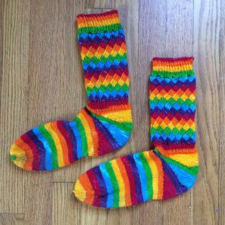 Fruit Stripe Gum Socks, featuring a spiral rib
