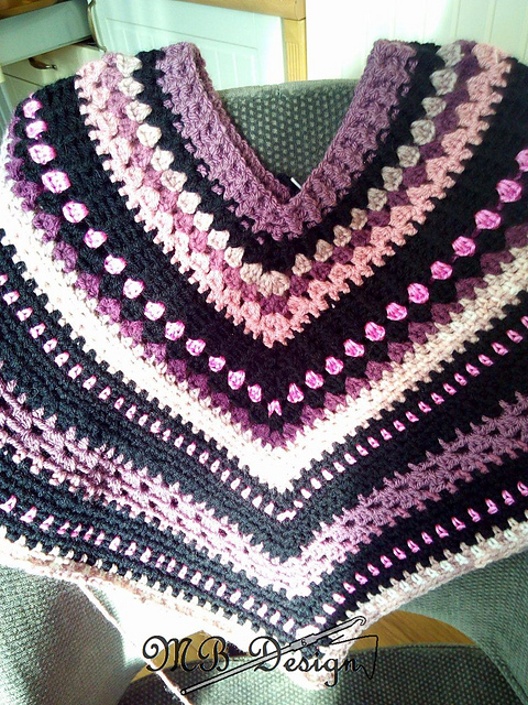 Ravelry Poncho With A Pocket Esmee Pattern By Miranda Baak Delectable Crochet Poncho Pattern Ravelry