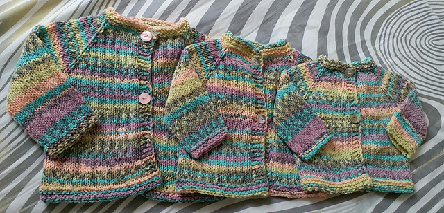 34fb1571d Ravelry  Newbie and Baby Cardi pattern by Mare Allison