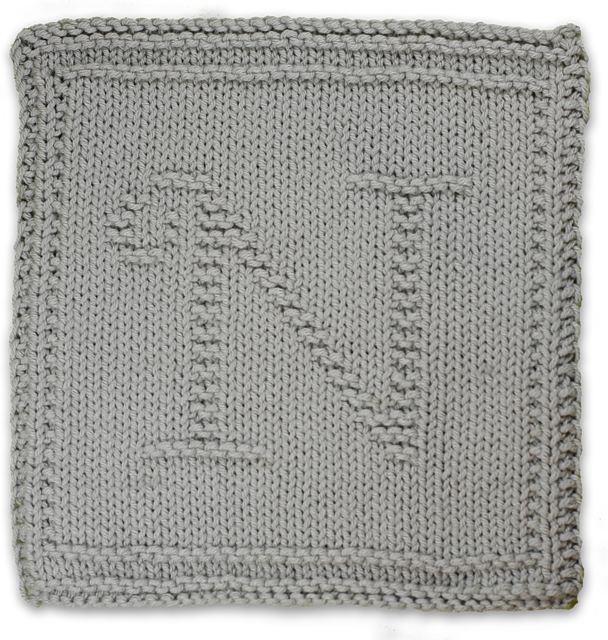 Ravelry Monogrammed Dishcloth Letter N Pattern By Heather Kate