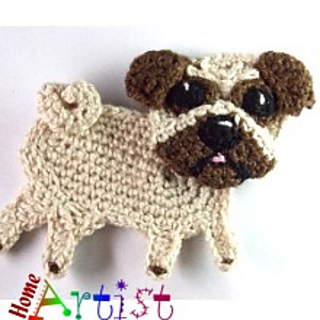 82f00efc6b6 Ravelry  Pug Dog Applique pattern by Homeartist crochet