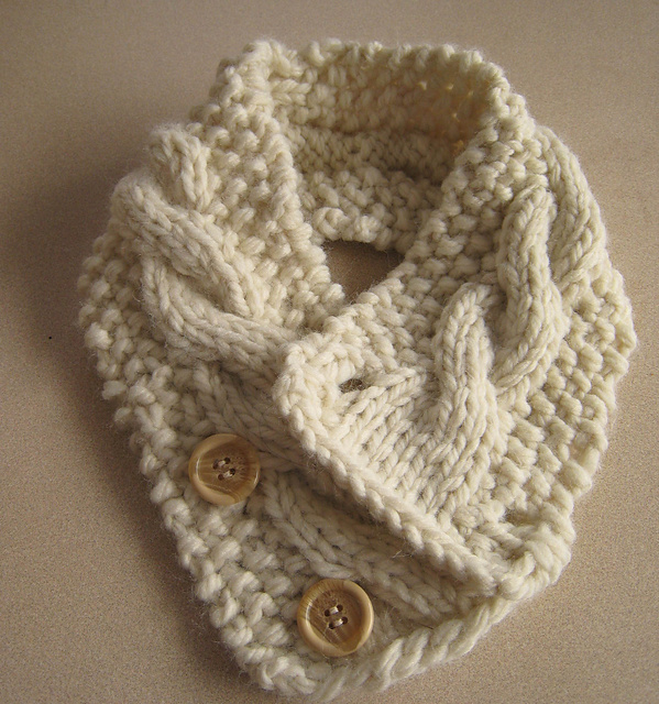 Ravelry Cabled Neck Warmer Pattern By Frances Lunney