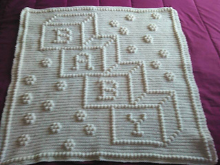Ravelry 73 Baby In Blocks Car Seat Cover Pattern By Nancy