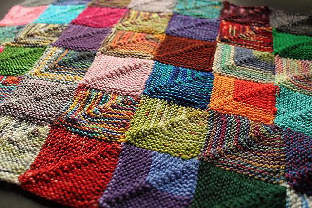 Ravelry Knitted Patchwork Recipe Pattern By Martine Ellis
