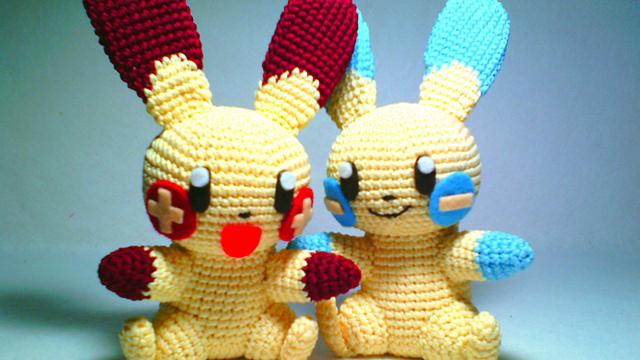 Amigurumi Nintendo : Ravelry amigurumi plusle and minun pattern by ikrom dian