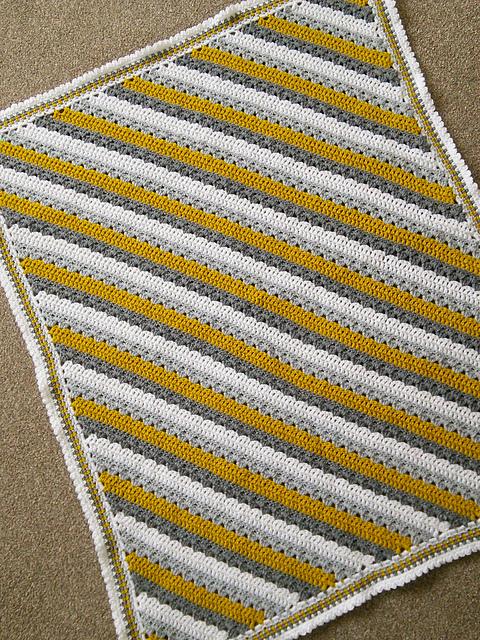 Ravelry Cosy Stripe C2c Blanket Pattern By Pat Foster