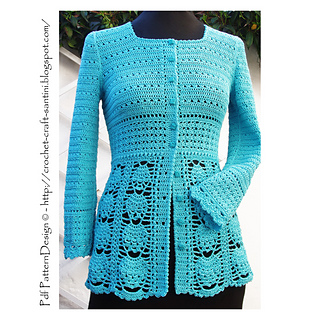 Ravelry: BLUE LACE CARDIGAN pattern by Sophie and Me-Ingunn Santini