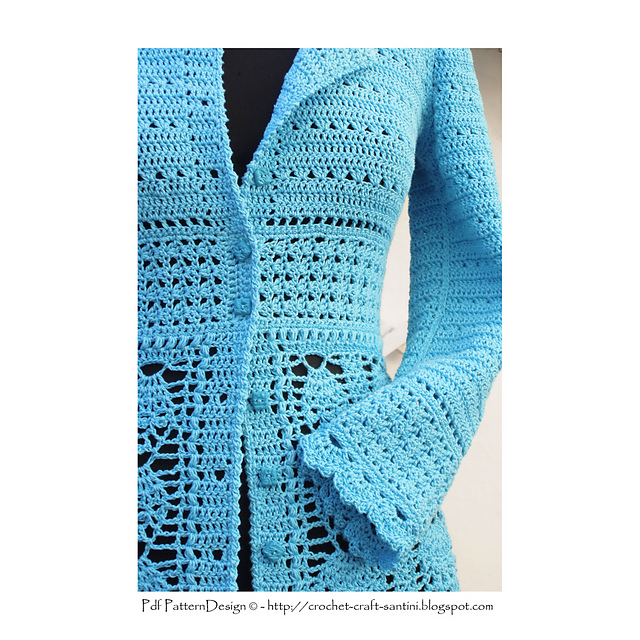 Ravelry Blue Lace Cardigan Pattern By Sophie And Me Ingunn Santini