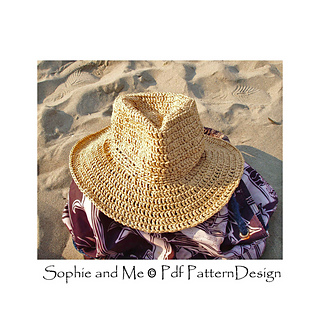 Ravelry  Raffia Hat - Fedora- or Stetson-Style Sun-Hat pattern by Sophie  and Me-Ingunn Santini 025e4144d20