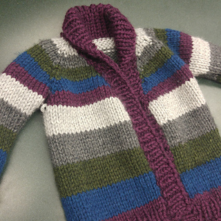53ac0a3ed Ravelry  Striped Chunky Baby Cardigan pattern by Ingrid Mutsaerts