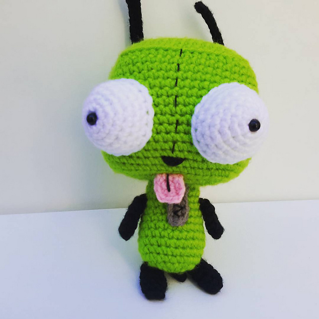 Ravelry Gir From Invader Zim Pattern By Nicholes Nerdy Knots