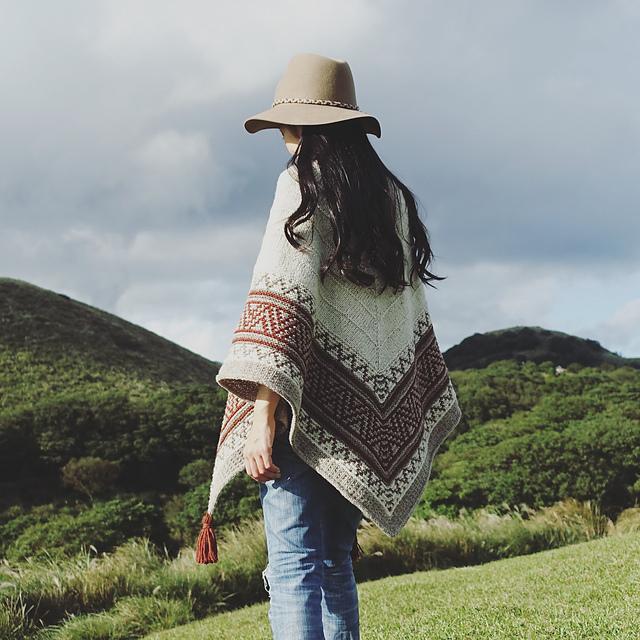 Boho style mosaic shawl par Irene Lin