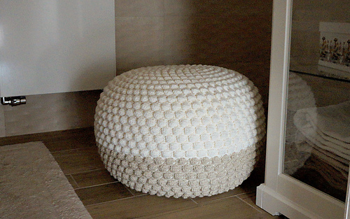 ravelry double colour crochet bean bag ottoman pouf. Black Bedroom Furniture Sets. Home Design Ideas
