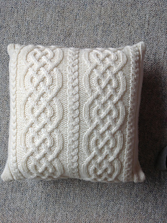 Free Knitted Toy Pattern : Ravelry: Celtic Knit Aran Pillow pattern by Glenna C.