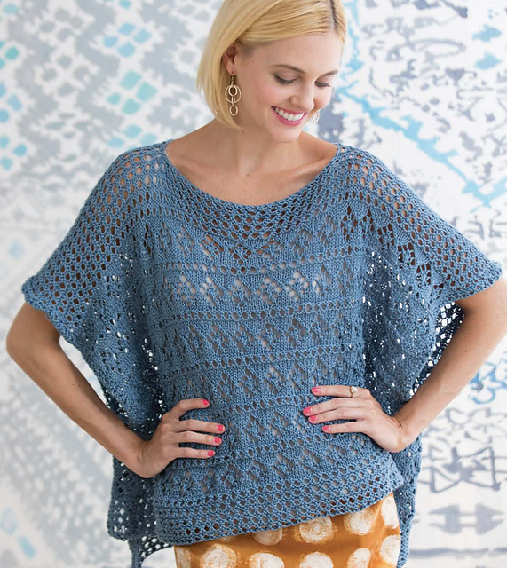 Ravelry: Diamond Lace Poncho pattern by Cheryl Murray