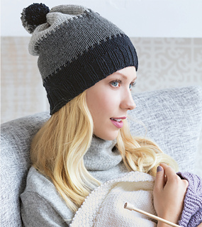 3d357218643 patterns   60 Quick Knits for Beginners.   Interlocked Gradient Hat