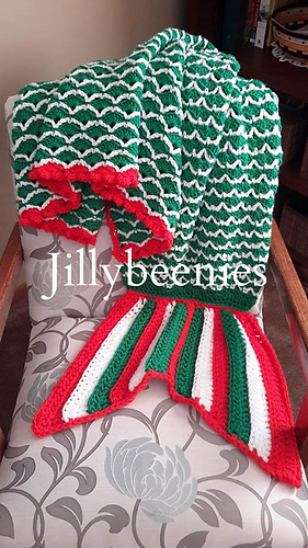 Irish_flag_colored_mermaid_tail_blanket_medium
