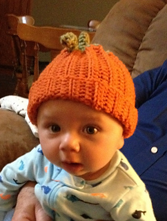 Ravelry  Baby-sized Crocheted Pumpkin Hat pattern by Jaime LaPlant ffce06f3da6