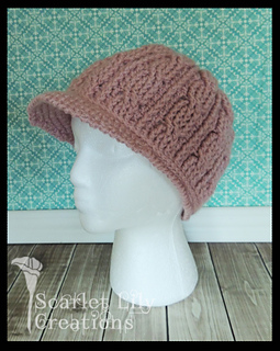 798d3621574 Ravelry  Cabled Hat with Brim pattern by Jamie Huisman