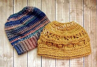 62988f123be Ravelry  Messy Bun Ponytail Hat 2 in 1 pattern by Jamie Huisman