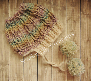 79636f766e0 Ravelry  Messy Bun Hat with Brim pattern by Jamie Huisman