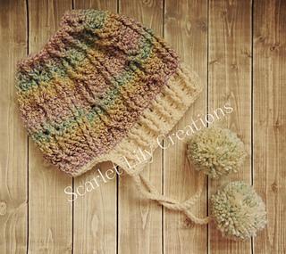 4d466b55dc9 Ravelry  Messy Bun Hat with Brim pattern by Jamie Huisman