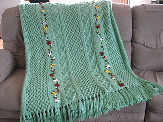 Ravelry: Mary Maxim #5705N, Cabled Garland Afghan - patterns