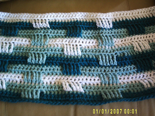 Ravelry Basket Weave Afghan 3 Color Pattern By Bernat