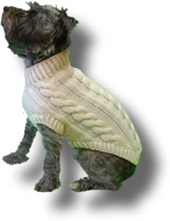 Ravelry Four Cable Dog Sweater Pattern By June Bowman