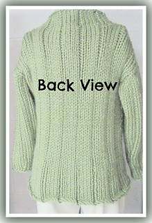 9a5deeb11 Ravelry  Loose Long Bulky Sweater Knitting Pattern for Teen to Adult ...