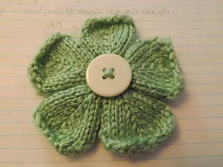 Small Flower Knitting Pattern : Ravelry: Five Petal Flower pattern by Jennifer Kanaski