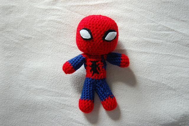 Ravelry Spiderman Mini Doll Crochet Pattern Pattern By Jenny Riley