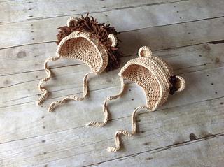 Ravelry  Lion   Lioness Baby Bonnet pattern by Crochet by Jennifer 69137be2f86