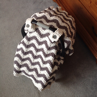Ravelry Chunky Chevron Car Seat Canopy Cover pattern by Crochet by Jennifer & Ravelry: Chunky Chevron Car Seat Canopy Cover pattern by Crochet ...