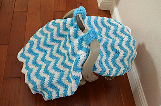 Ravelry Chunky Chevron Car Seat Canopy Cover Pattern By Crochet By